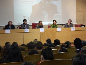 Miguel Ángel García Martín, Lorenzo Amor, Salvador Molina, Decana de Facultad de CCII de la UCM