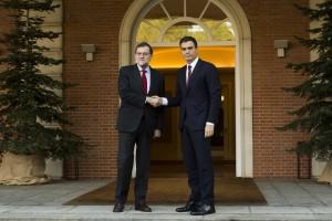 Rajoy y Sánchez en Moncloa