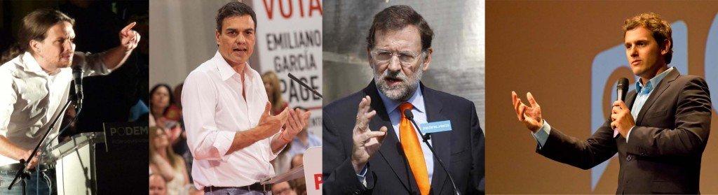 Elecciones 2016 -Rajoy-Sanchez-Iglesias-Rivera