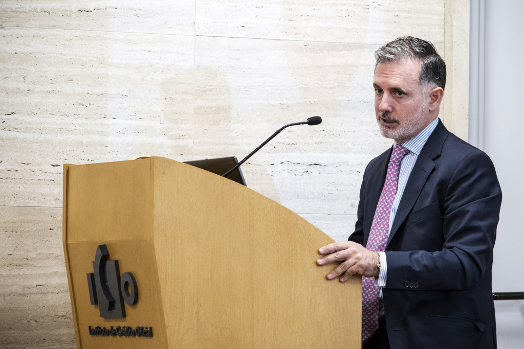 Ignacio Jiménez, director general de Iberinform, durante su ponencia en el X Congreso ECOFIN.