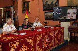 Irene Domínguez-Alcahud en la presentación de la exposición de 'La mujer en la colonización'