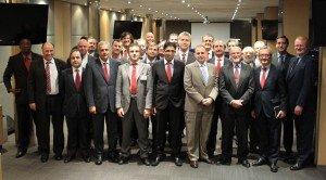El grupo de IMC, que se reunió en Madrid el pasado fin de semana, con algunos miembros de Foro Ecofin