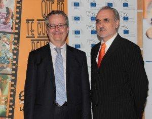 Javier Fernández Aguado junto con el presidente de ECOFIN, Salvador Molina.