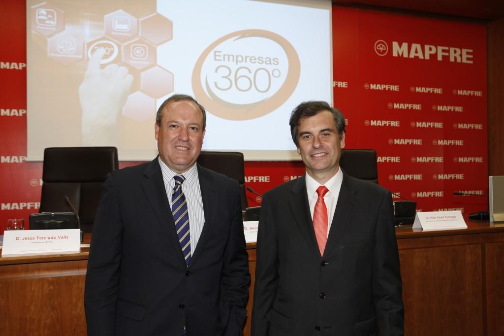 Jesús Terciado, Presidente de CEPYME y Jesús Martinez Castellanos, Director General Comercial y de Clientes de MAPFRE ESPAÑA.