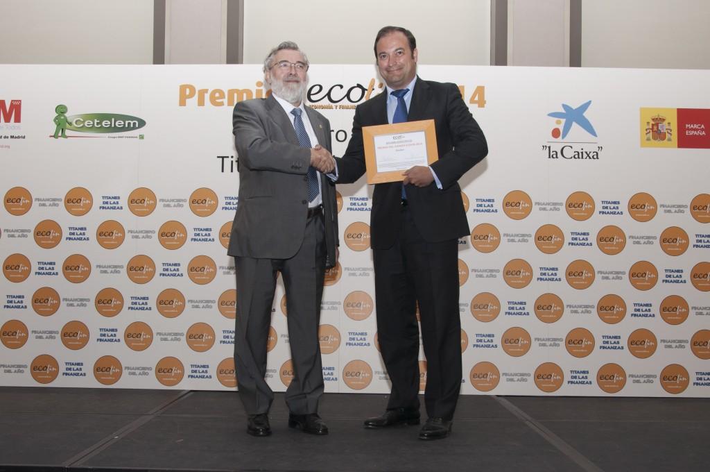 Carlos Mallo, vicesecretario de CEDE y miembro del Jurado ECOFIN, junto con Francisco Amián.