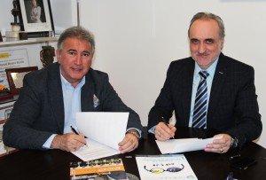 Marcelino Elosúa, fundador de LID Editorial, y Salvador Molina, presidente de Foro ECOFIN.
