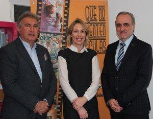 Marcelino Elosúa, Jeanne Bracken y Salvador Molina.