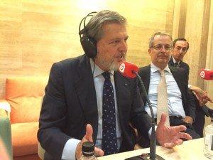 Íñigo Méndez de Vigo durante el programa 'Pulso empresarial' en el VII Congreso ECOFIN.