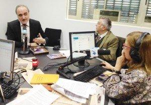 Salvador Molina y Carlos Mallo en los estudios de Radio Intereconomía.