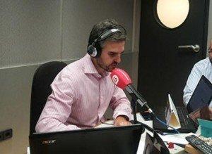 Rubén Gil durante la emisión del programa 'Pulso empresarial' en Gestiona Radio.