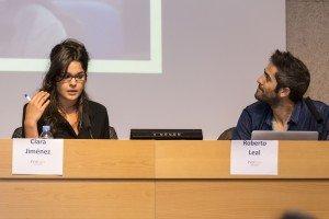Clara Jiménez, redactora de El Objetivo de La Sexta, y Roberto Leal, presentador de España Directo.