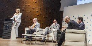 Rosario Rey, directora general de economía y política financiera de la Comunidad de Madrid, inauguró el 9º Congreso ECOFIN 2016.