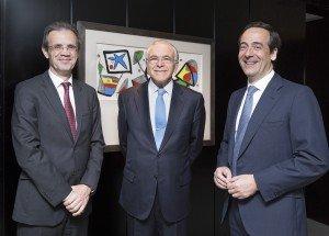 Jordi Gual, Isidro Fainé y Gonzalo Gortázar (2)