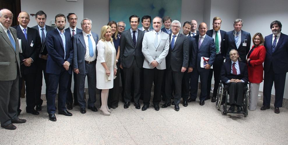 Los miembros del Jurado ECOFIN 2017 reunidos en la sede del ICO.