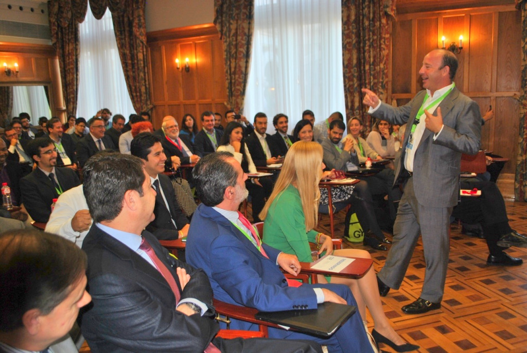 Juan Manuel Cendoya, vicepresidente del Banco Santander, durante su intervención en GYLF.