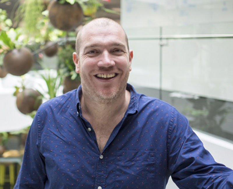Dom Price, director de R&D.