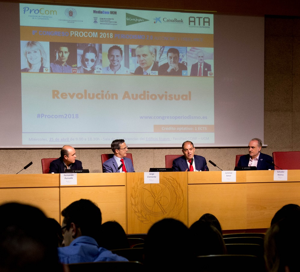 Fernando Peinado, Jorge Clemente, Lorenzo Amor y Salvador Molina (izquierda a derecha).