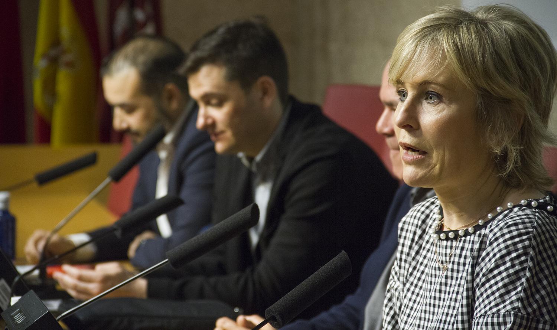 Juan Zafra, David Alandete y María Rey.