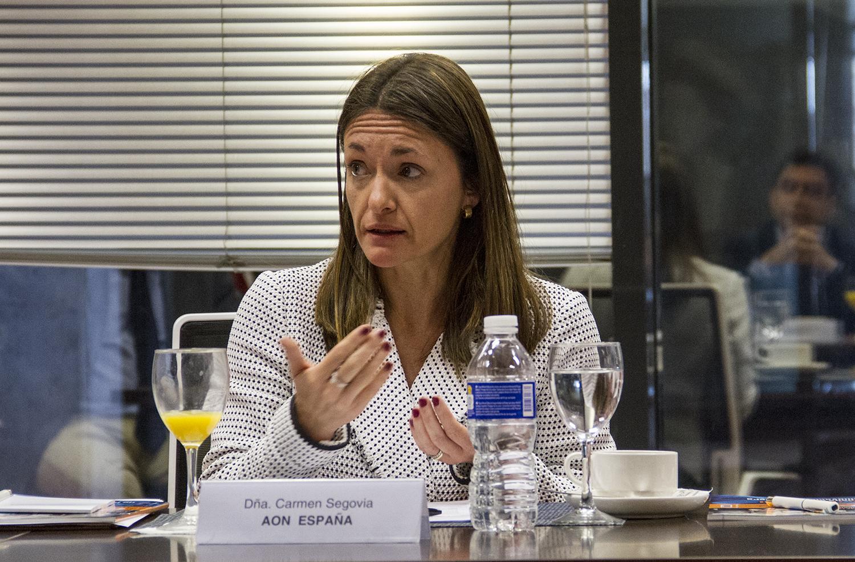 Carmen Segovia, directora de Ciberriesgos en AON España, durante el Observatorio sobre Ciberriesgos.