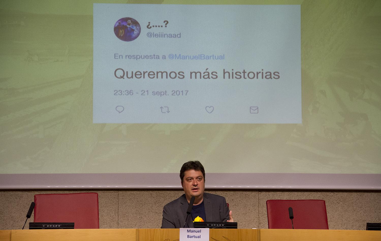 Manuel Bartual, editor e historietista.