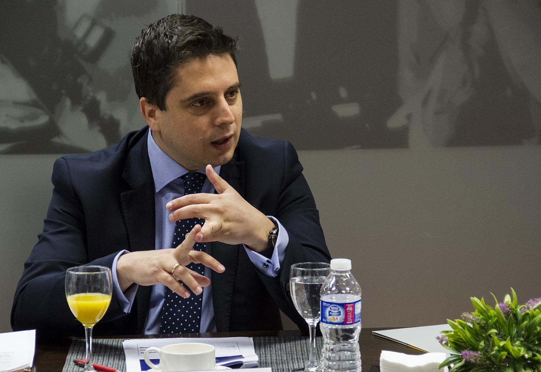 Santiago Sánchez, head of sales & distribution en España y Portugal de Chubb, durante el Observatorio sobre ciberriesgos