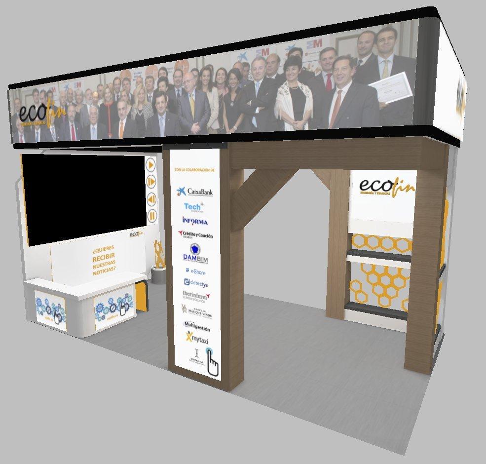 Diseño del Stand de Foro ECOFIN para el Foro Internacional de Talento.