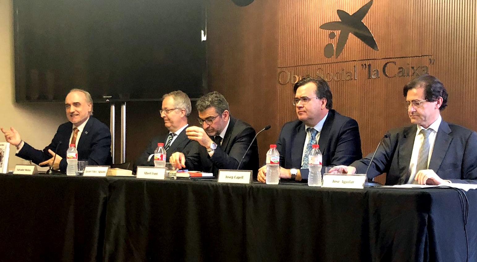 De izquierda a derecha: Salvador Molina, Javier Fernández Aguado, Albert Font, Josep Capell y José Aguilar.