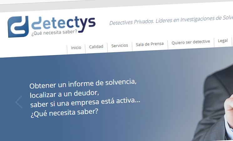 Página web de Detectys.