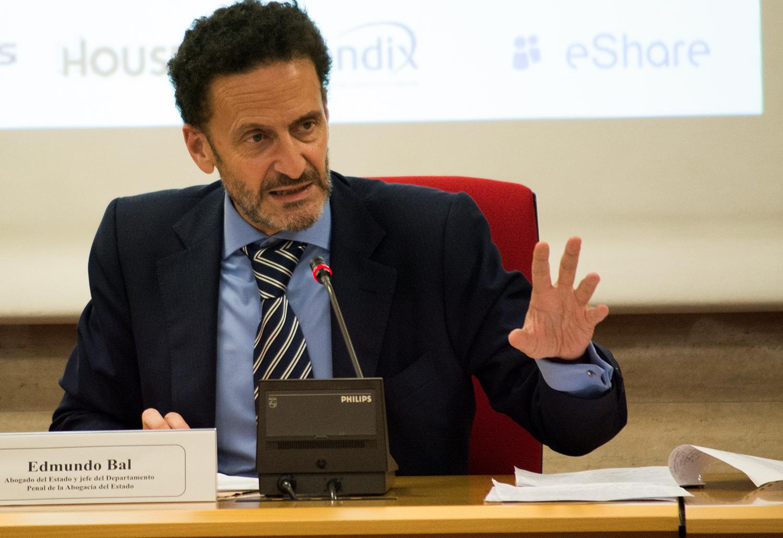 Edmundo Bal, jefe de lo penal de la Abogacía del Estado, durante su ponencia en ECOFIN 2017.