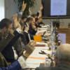 Jurado ECOFIN durante la reunión.