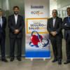 De derecha a izquierda: Salvador Molina, Jaime Ortíz, Eduardo Pitto, Pedro Orbe, Luis Iglesias y Rafael Sierra durante el Observatorio sobre el Seguro de Salud 2018.