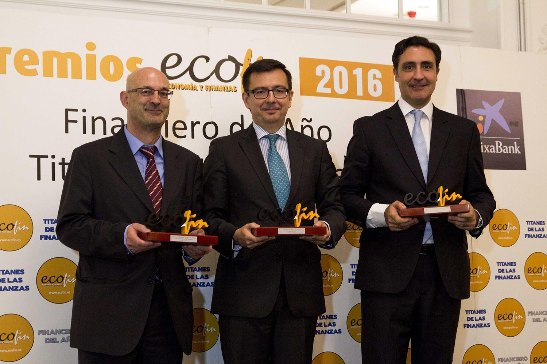 Algunos premiados durante La Noche de las Finanzas 2016.