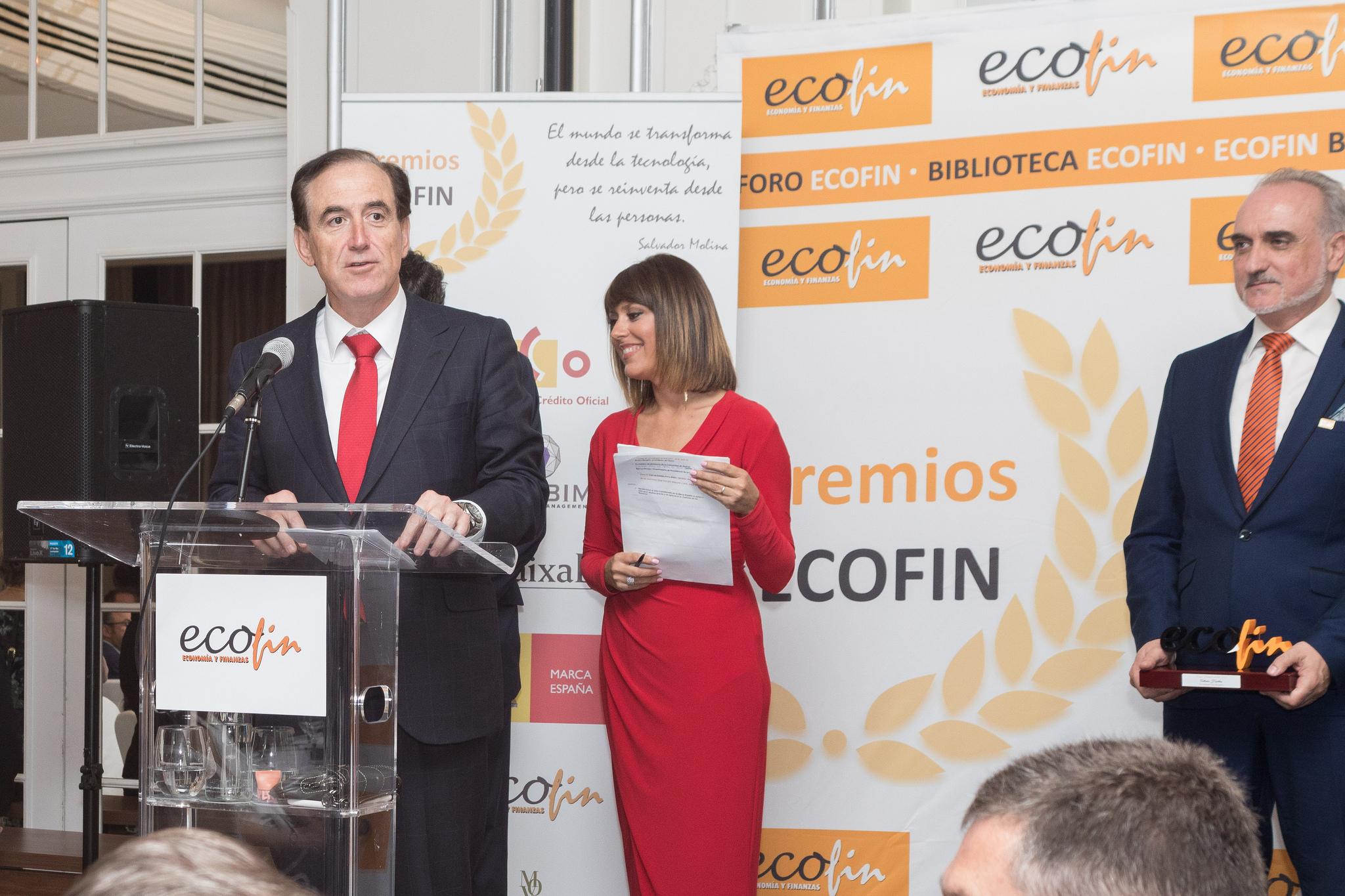 Antonio Huertas durante su discurso en La Noche de las Finanzas (Fotografía: Laura Bonachea)