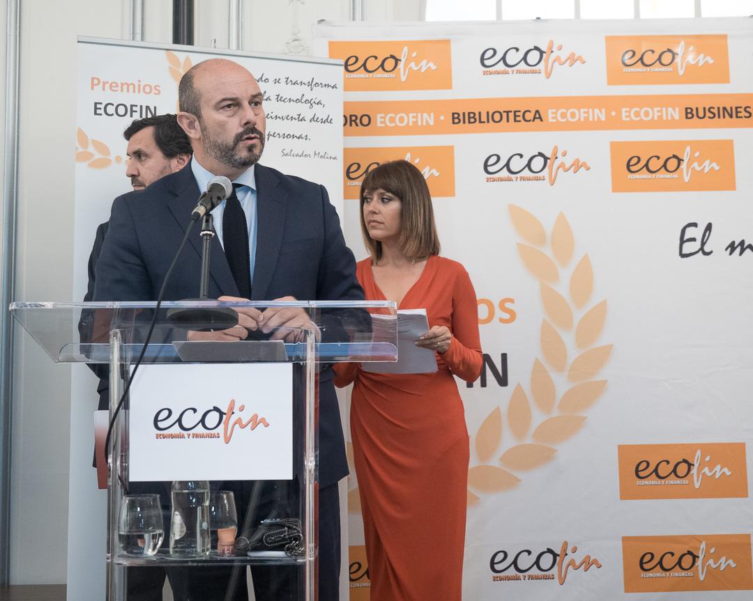 Pedro Manuel Rollán durante su discurso en La Noche de las Finanzas (Fotografía: Patricia Sotomayor).