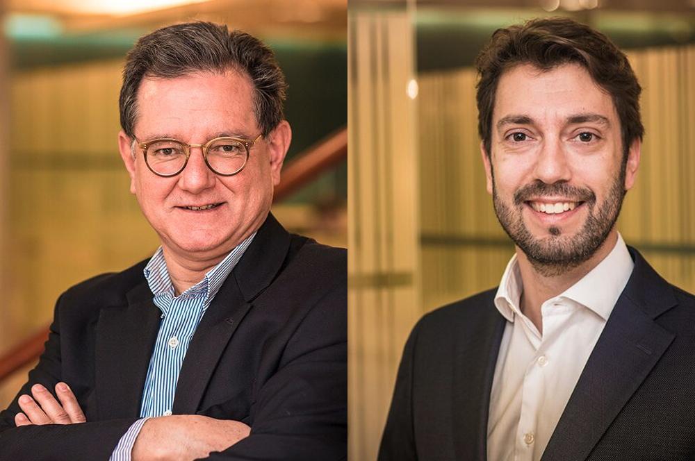 De derecha a izquierda: Carlos Castresana y José Delgado Larena-Avellaneda.