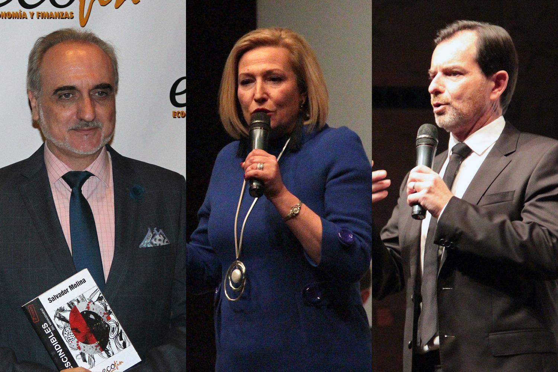 De izquierda a derecha: Salvador Molina, Ofelia Santiago e Ignacio Bernabé.