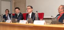 De izquierda a derecha: Félix Muñoz, Edmundo Bal, Carlos Castresana y Javier Joli durante la mesa sobre Compliance Penal del Congreso ECOFIN 2018.