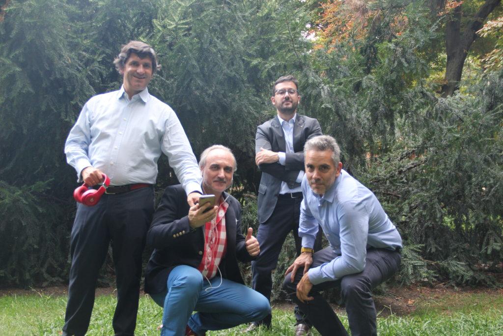 Juan R. Moltó, Salvador Molina, Mauricio Barroso y Rodrigo Rueda,