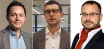De izq. a der.: Juan Carlos González (Microsoft), Giorgio Semenzato (Finizens) y Asier Basterretxea (Madrid Startup House).