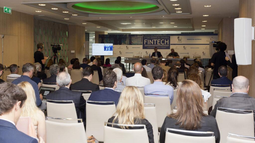 Fotografía de ambiente del II Foro El Español FinTech (2018)