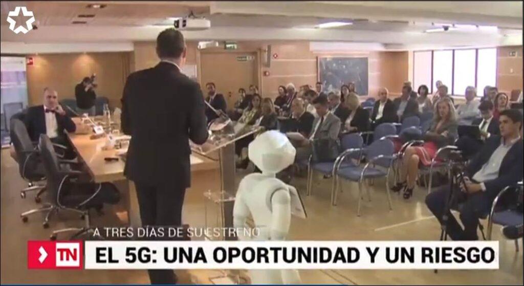 'Telenoticias 1', el noticiero del mediodía de la televisión autonómica madrileña recogió entrevistas e imágenes del Congreso ECOFIN 2019.